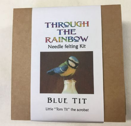Through the Rainbow Needle Felting Blue Tit Kit